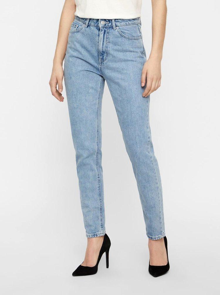 Modré mom džíny s vysokým pasem VERO MODA Joana