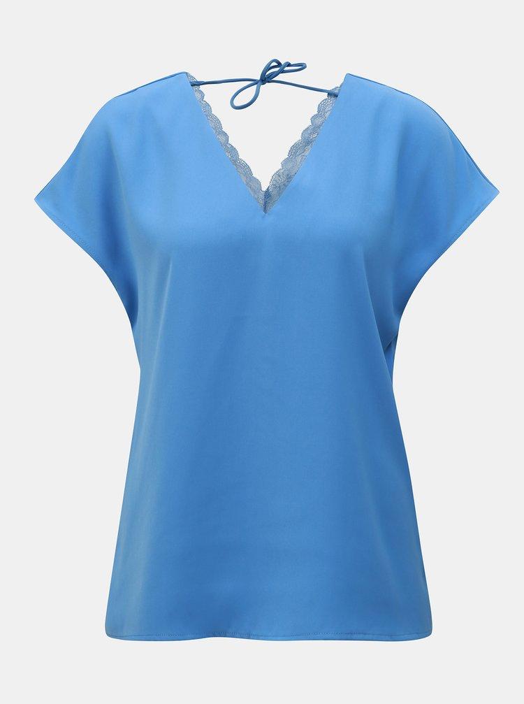 Bluza albastra cu dantela VERO MODA Rosa