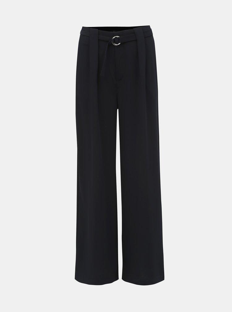 Tmavě modré široké kalhoty ONLY Minnie