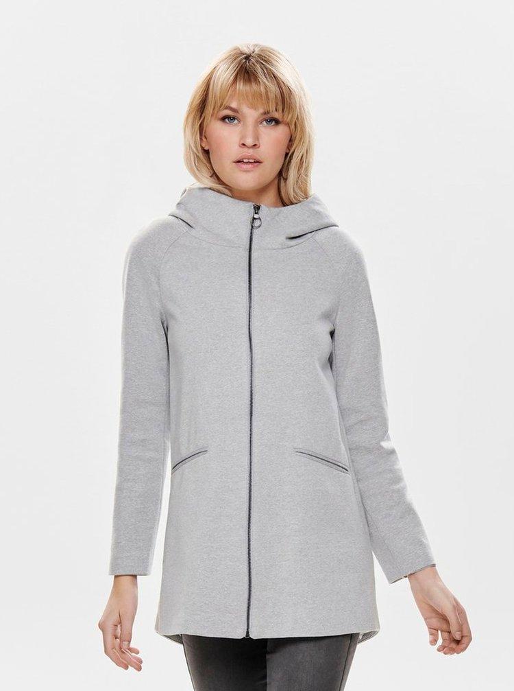 Svetlosivý melírovaný tenký kabát ONLY Nala