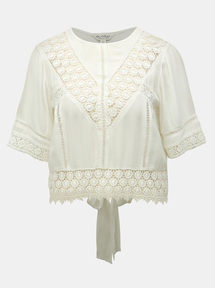 Top crem cu madeira Miss Selfridge