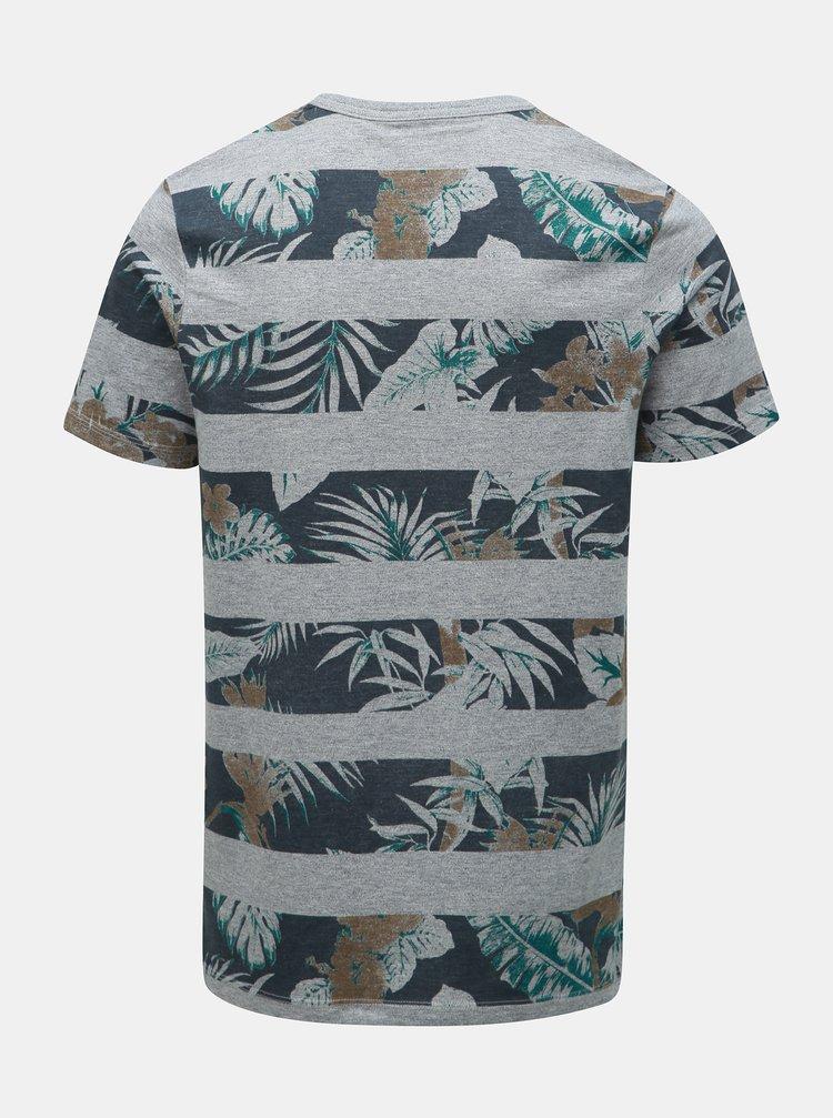 9f14b713dbda ... Sivé vzorované tričko Jack   Jones Rise
