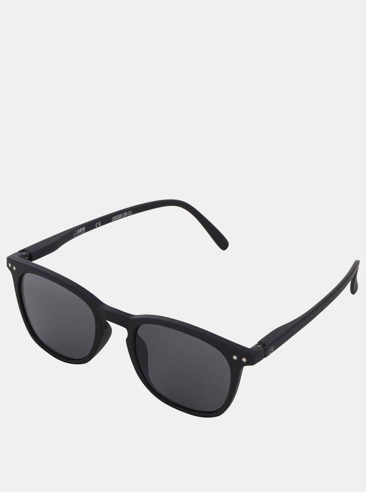 Čierne slnečné okuliare s čiernymi sklami IZIPIZI #E