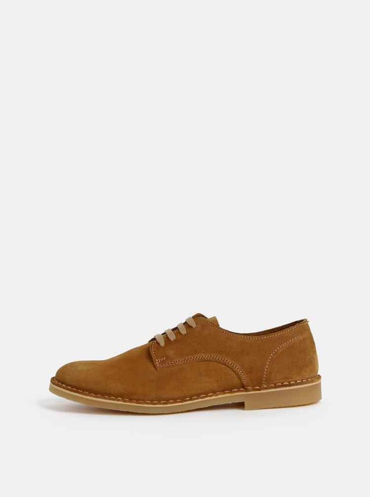 Pantofi barbatesti maro din piele intoarsa Selected Homme Royce Derby