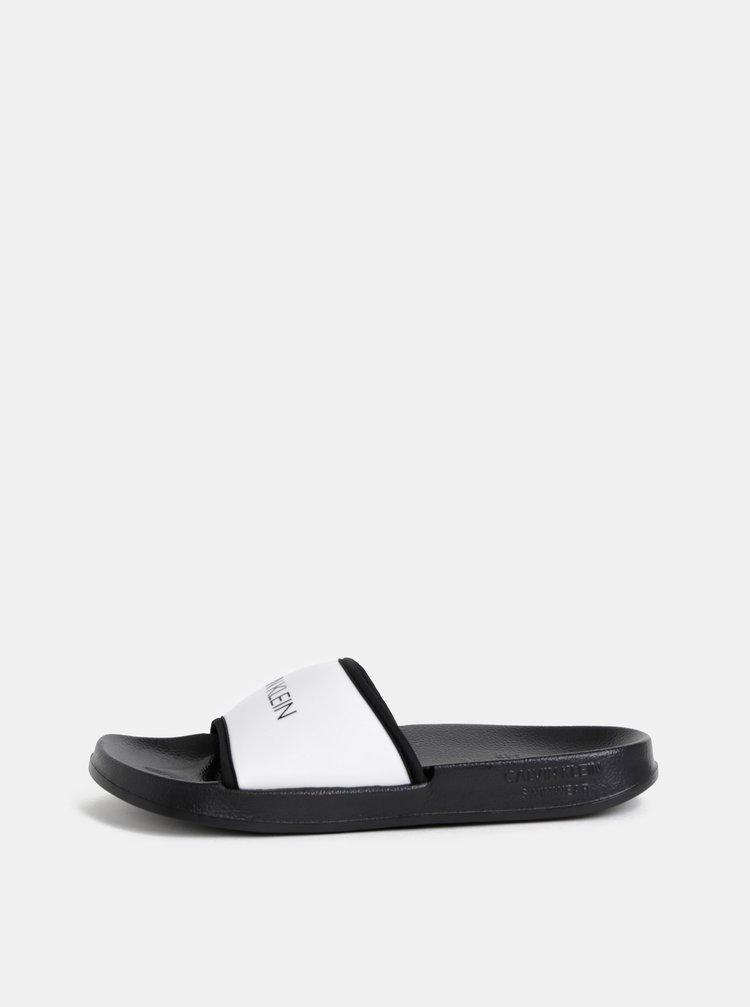 Čierno–biele šľapky Calvin Klein Underwear