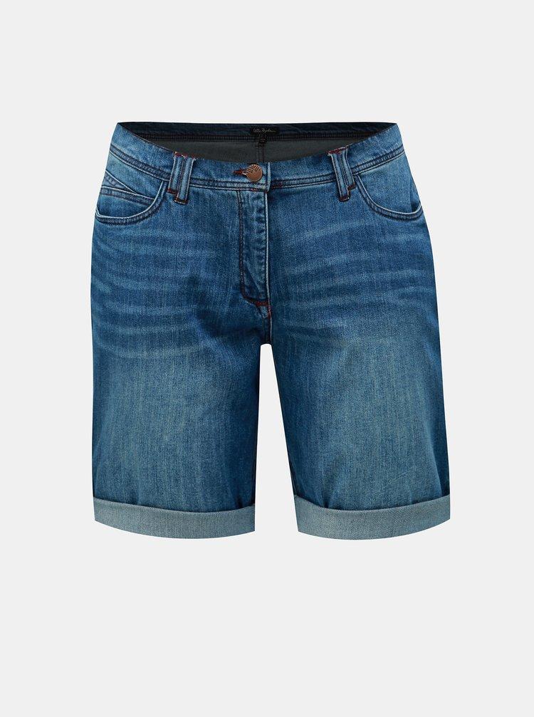 Pantaloni scurti albastri din denim Ulla Popken