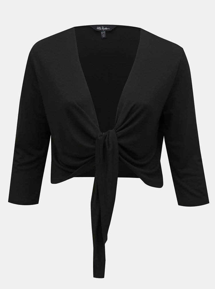 Cardigan scurt negru Ulla Popken