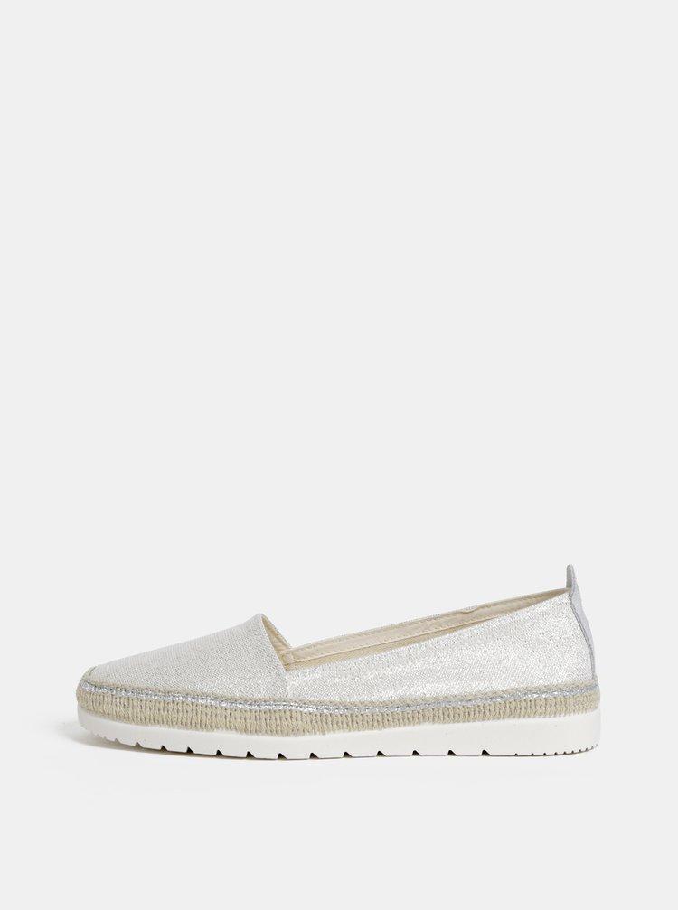 Pantofi slip on bej cu fibre metalice OJJU