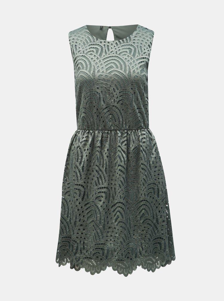 Zelené krajkové šaty ONLY Edith