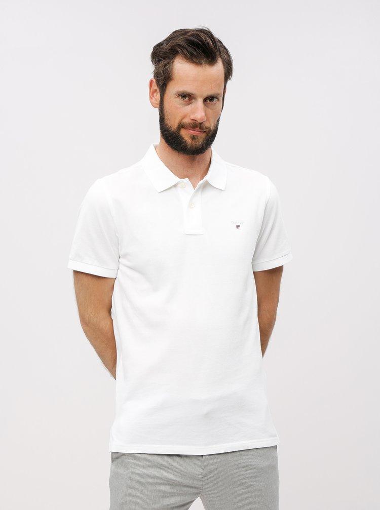 Bílé pánské basic polo tričko GANT Original Pique