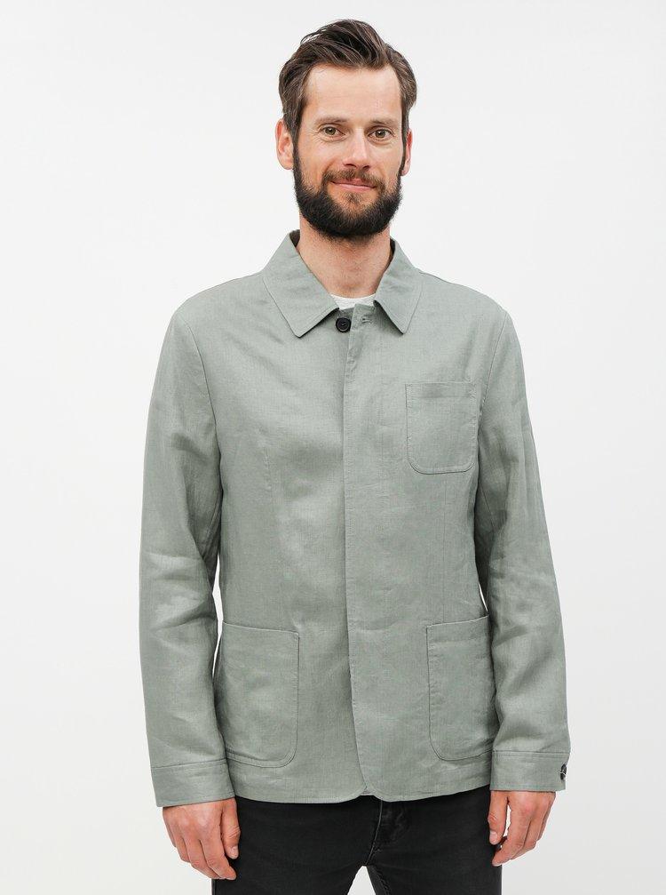 Jacheta verde lejera din in cu buzunare Selected Homme