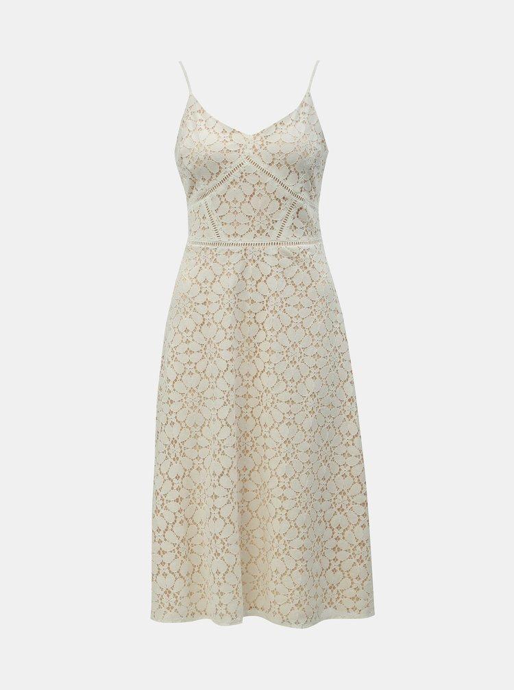 Krémové čipkované šaty Dorothy Perkins