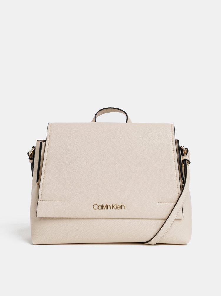 Krémová crossbody kabelka Calvin Klein Jeans