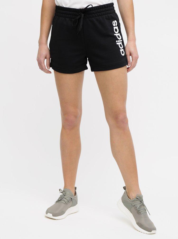 Pantaloni scurti negri de dama adidas CORE Essentials Linear