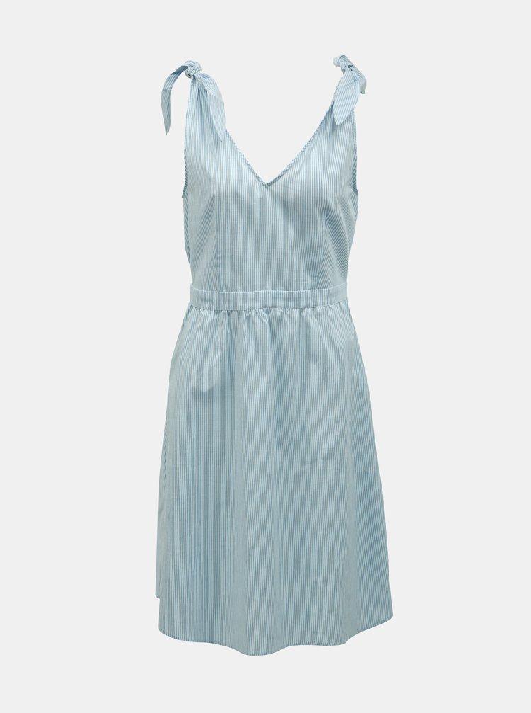 Světle modré pruhované šaty VILA Gladys