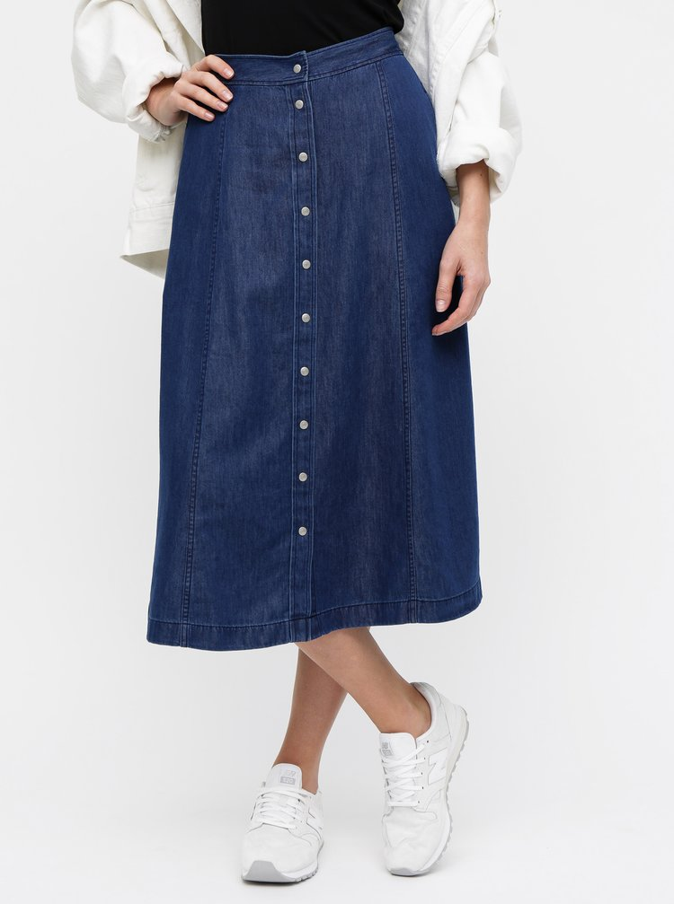 Modrá rifľová sukňa Calvin Klein Jeans