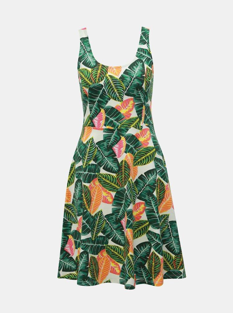Zelené vzorované šaty Dorothy Perkins