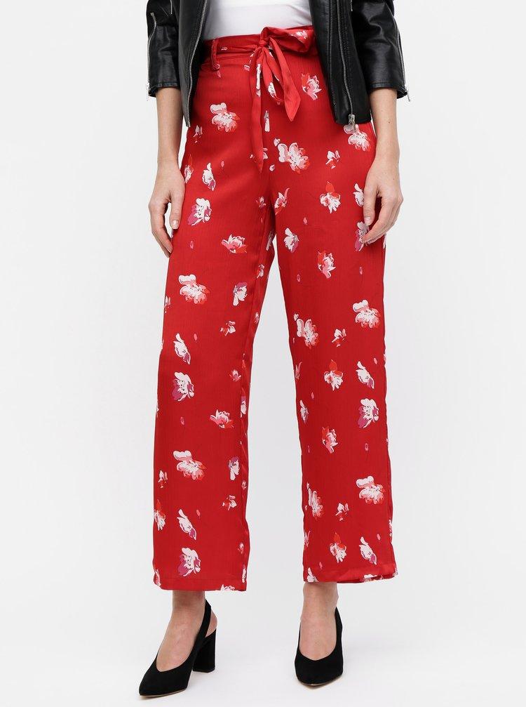 Červené květované kalhoty ONLY Giza
