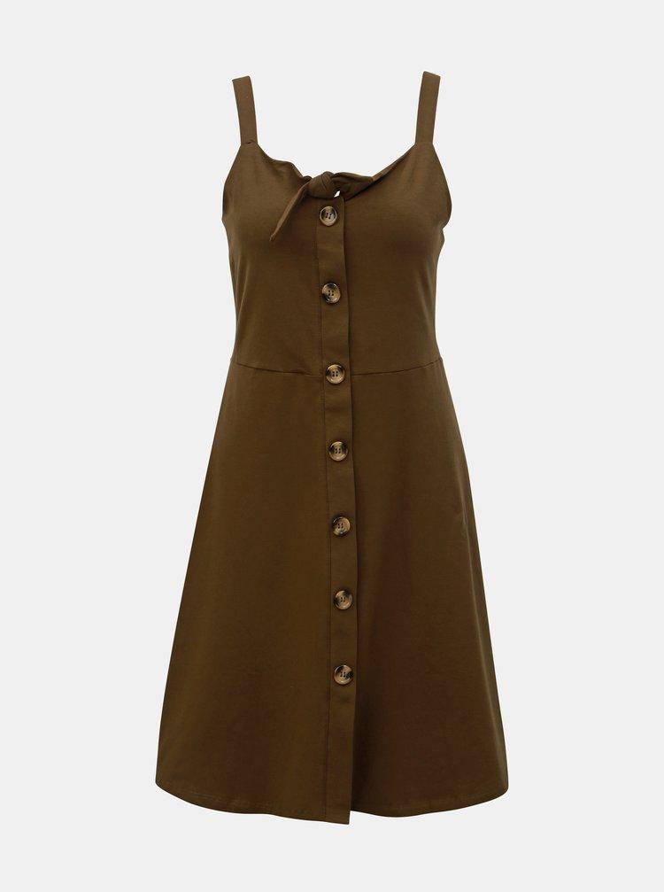Khaki šaty na ramínka Dorothy Perkins