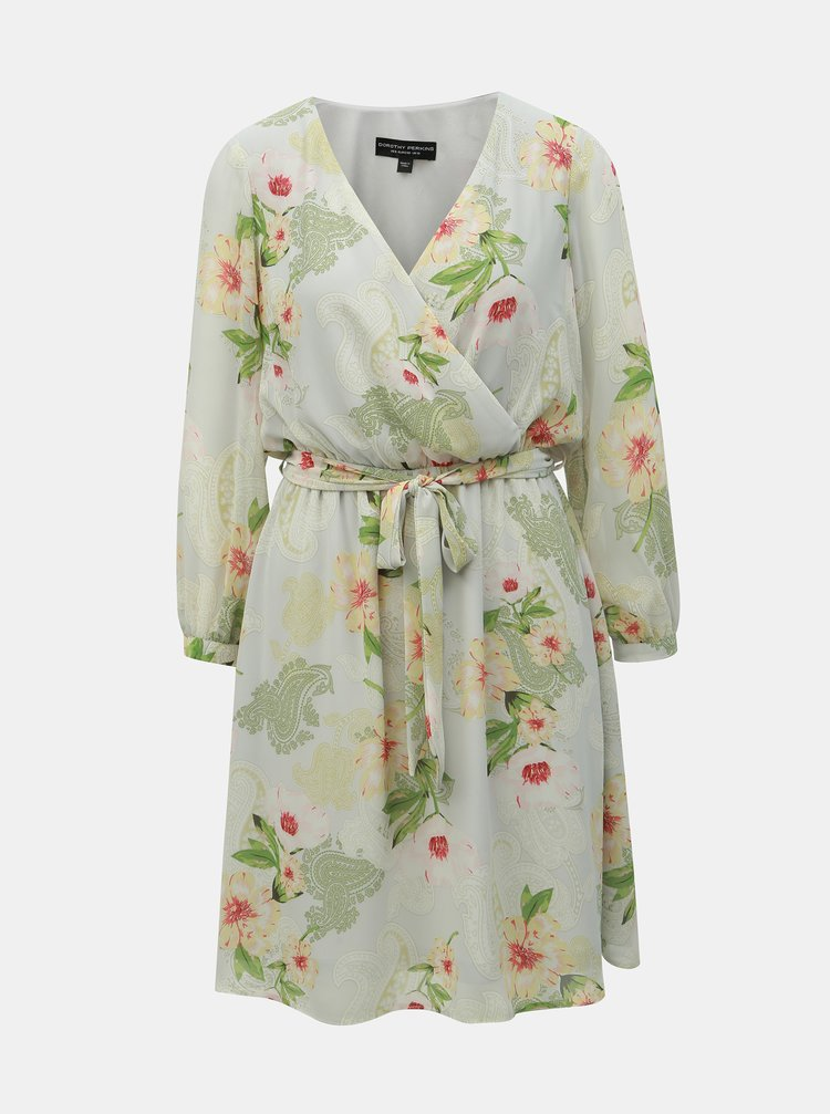 Světle zelené vzorované šaty Dorothy Perkins