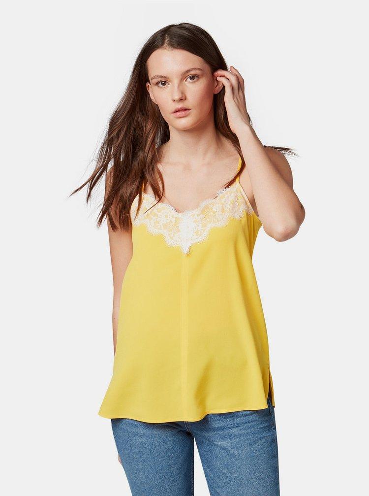 Žlutý top s krajkou Tom Tailor Denim