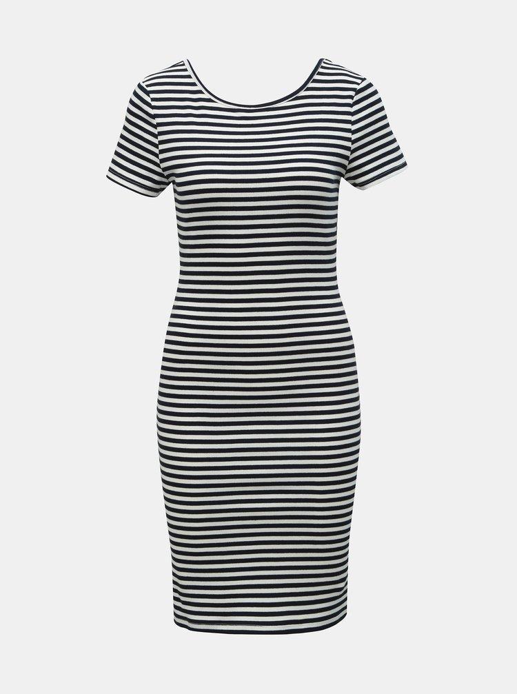 Bílo-modré pruhované pouzdrové šaty ONLY Bella