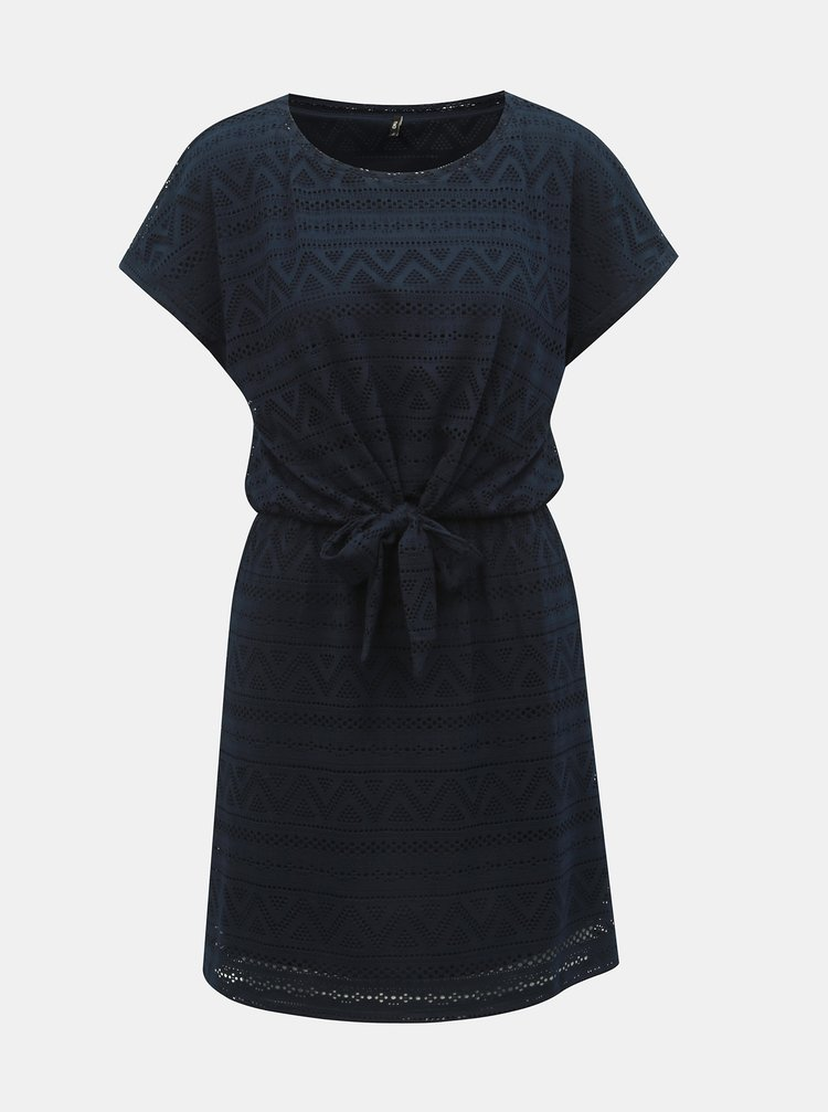 Tmavě modré šaty s mašlí ONLY Jolly