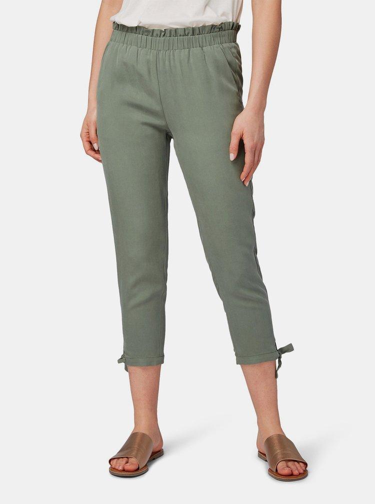 Pantaloni verzi de dama pana la glezne Tom Tailor