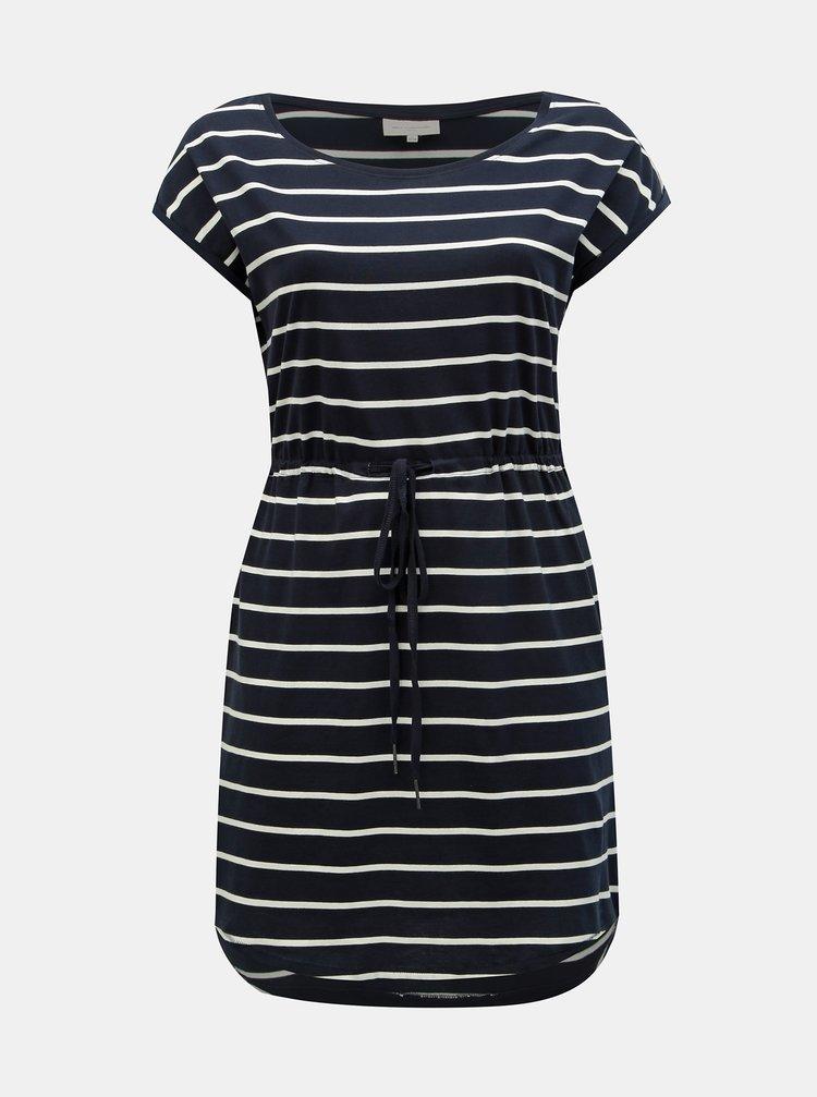 Tmavě modré pruhované basic šaty ONLY CARMAKOMA April