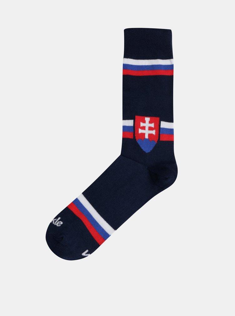 Sosete albastru inchis Fusakle fun Slovensko