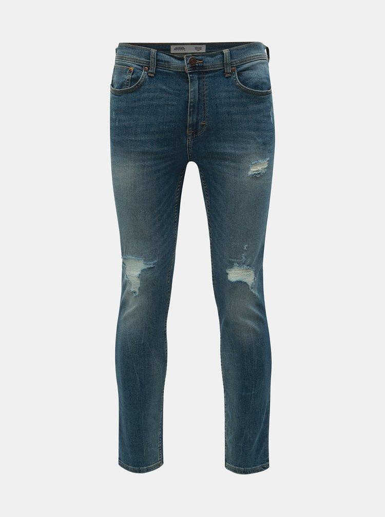 Blugi albastri skinny fit Burton Menswear London