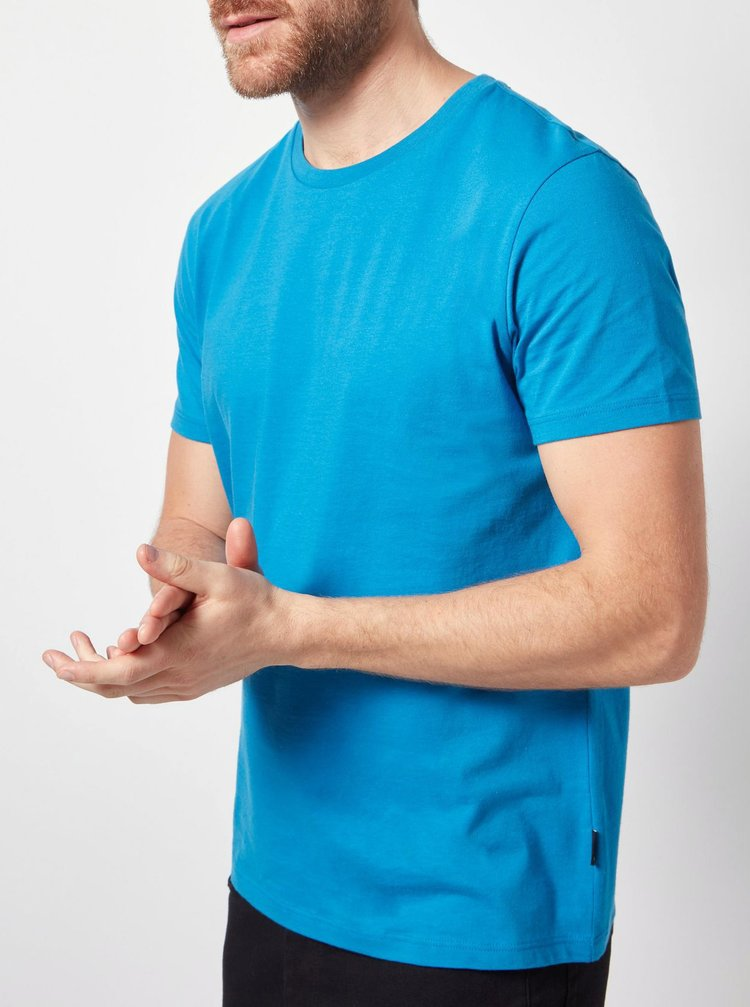 Tricou basic albastru Burton Menswear London