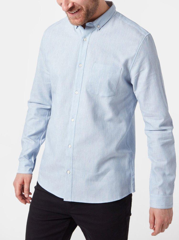 Světle modrá košile s kapsou Burton Menswear London