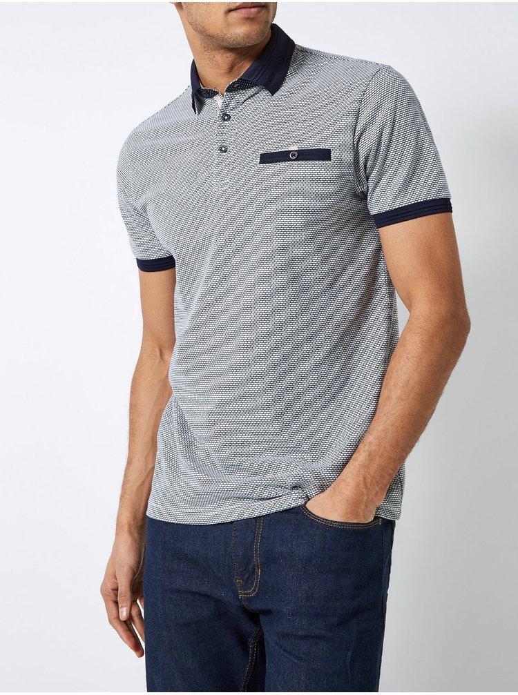 Modré polo tričko Burton Menswear London