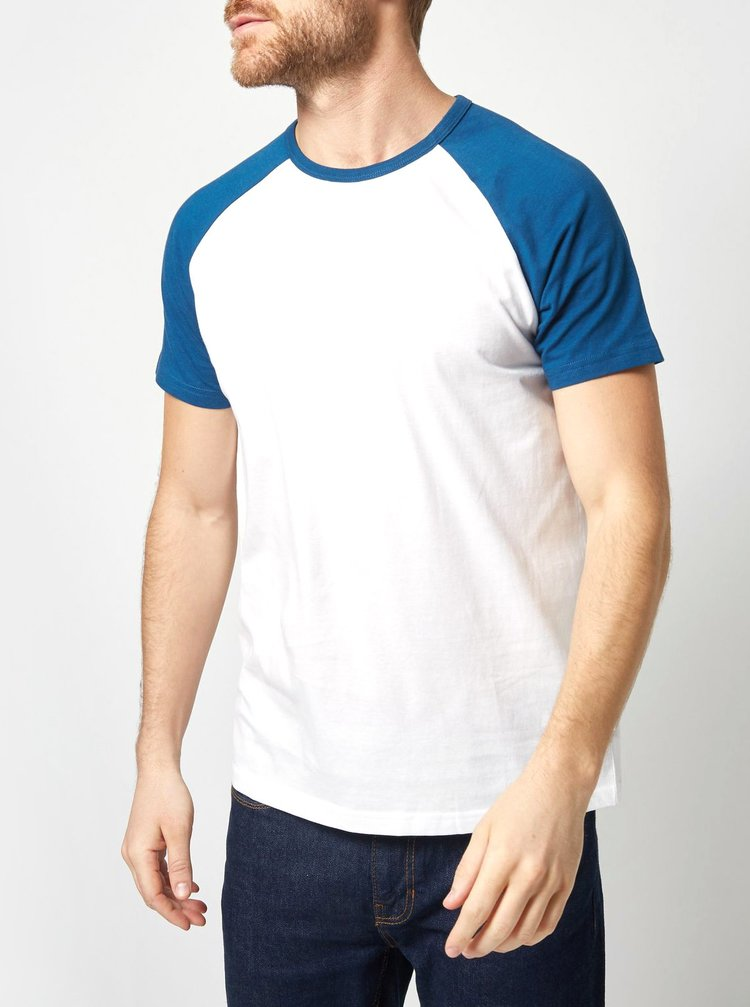 Tricou albastru-alb Burton Menswear London