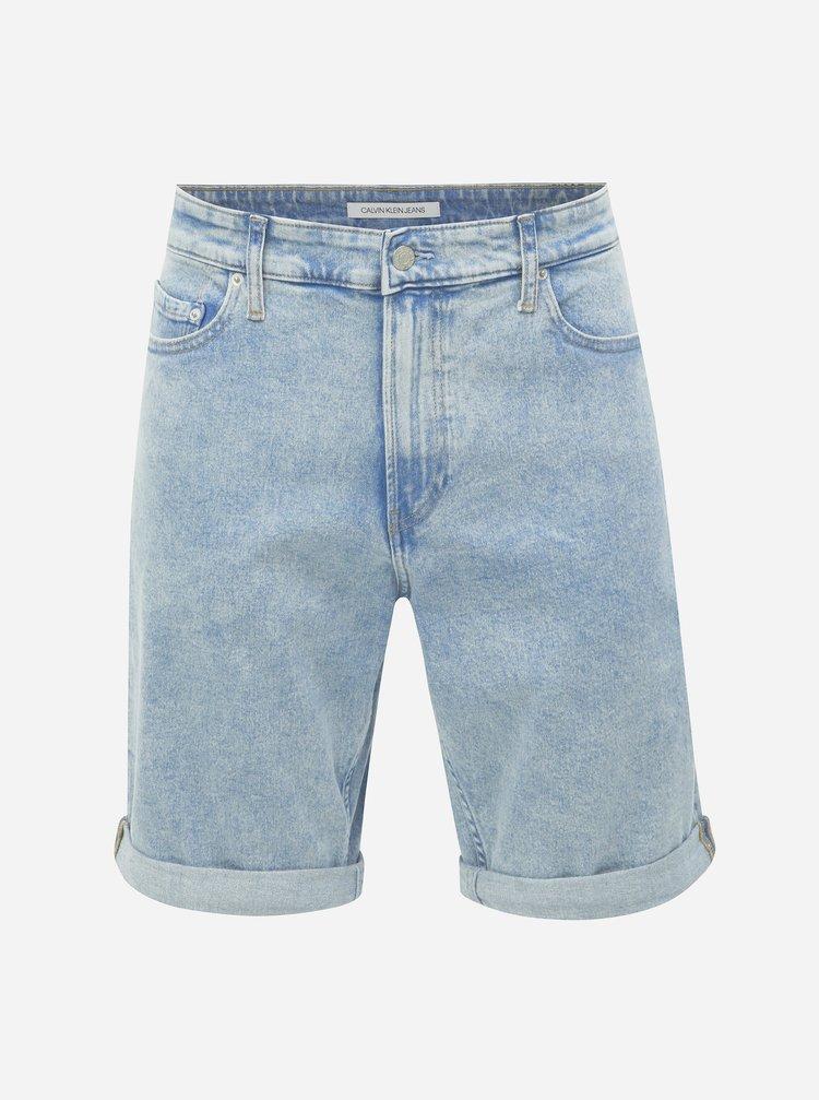 8f723c3d8fbb Svetlomodré pánske slim fit rifľové kraťasy Calvin Klein Jeans