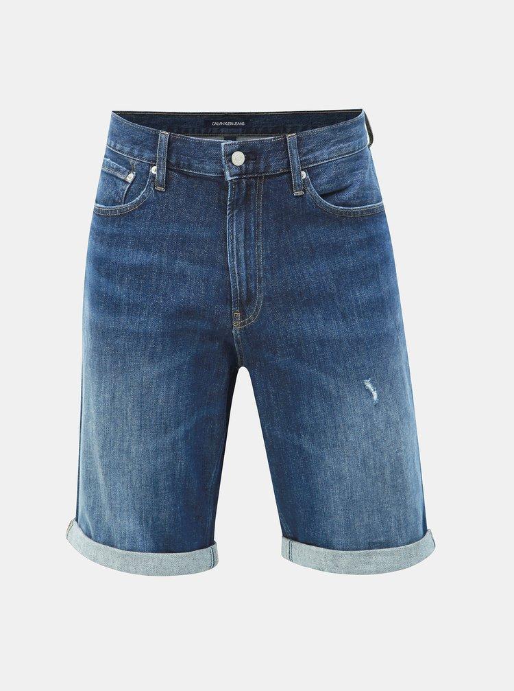 93a11fde5dfe Modré pánske slim fit rifľové kraťasy Calvin Klein Jeans