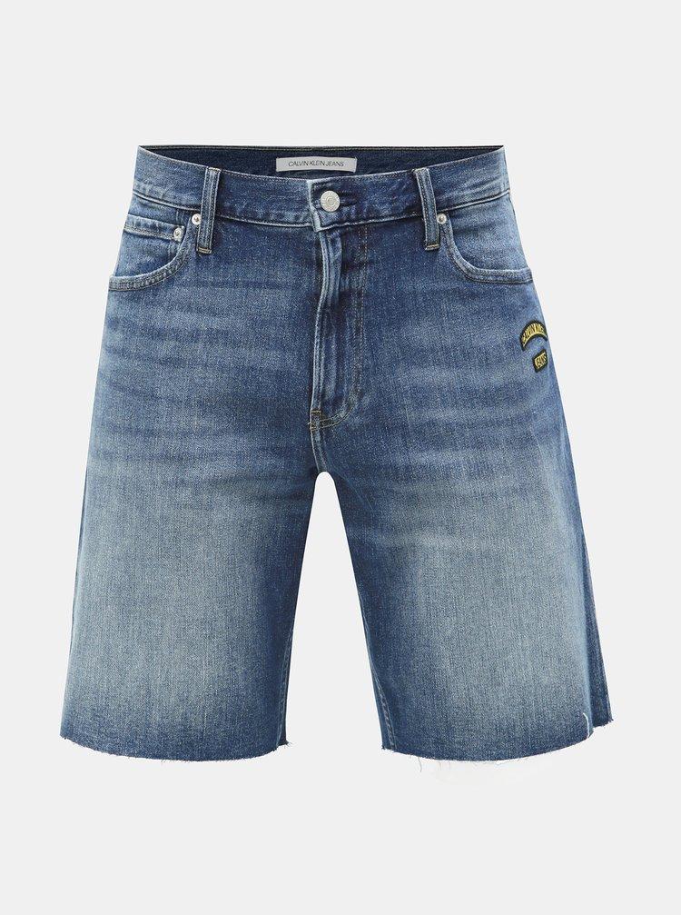 be09affa2e5c ... Modré pánske slim fit rifľové kraťasy Calvin Klein Jeans