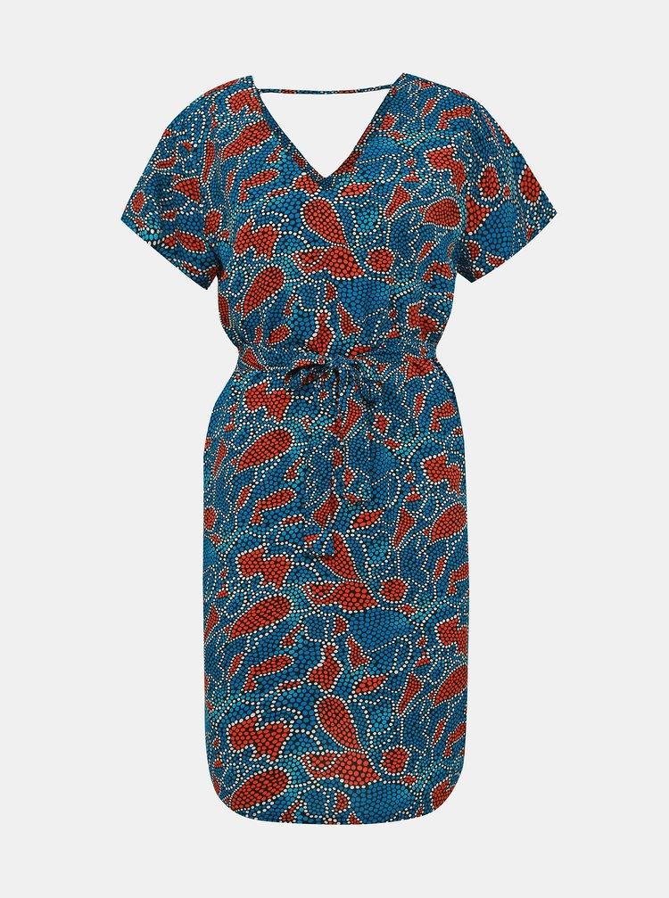 Červeno-modré vzorované šaty ONLY Nova