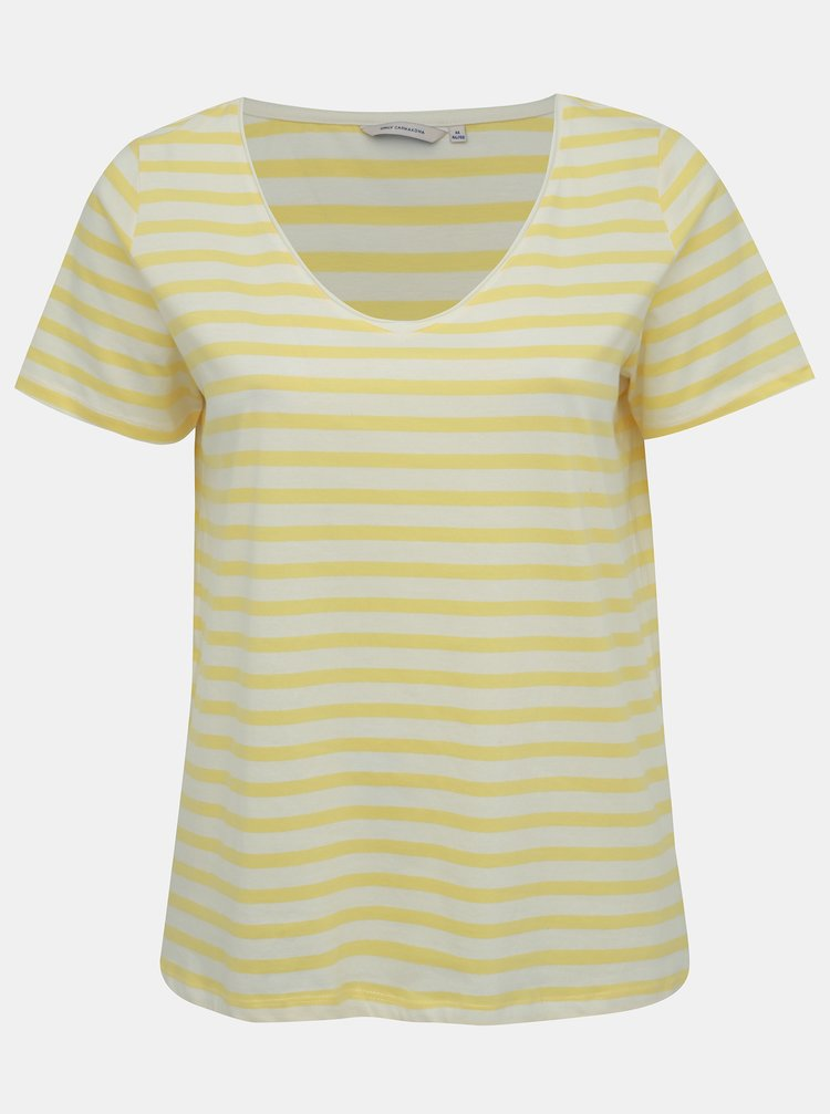 Tricou basic galben oversize in dungi ONLY CARMAKOMA Live
