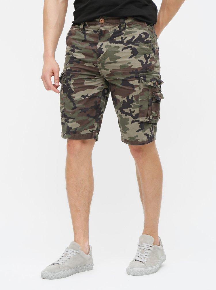 Pantaloni scurti kaki camuflaj cu buzunare Quiksilver Crucial Battle