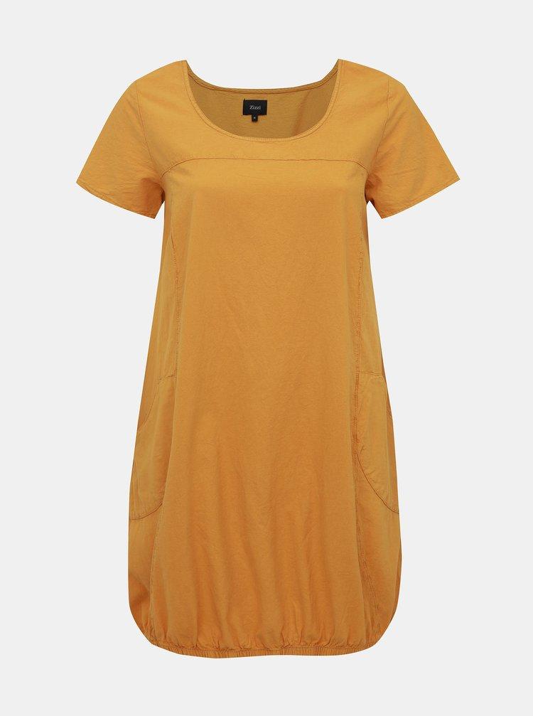 Hořčicové šaty Zizzi