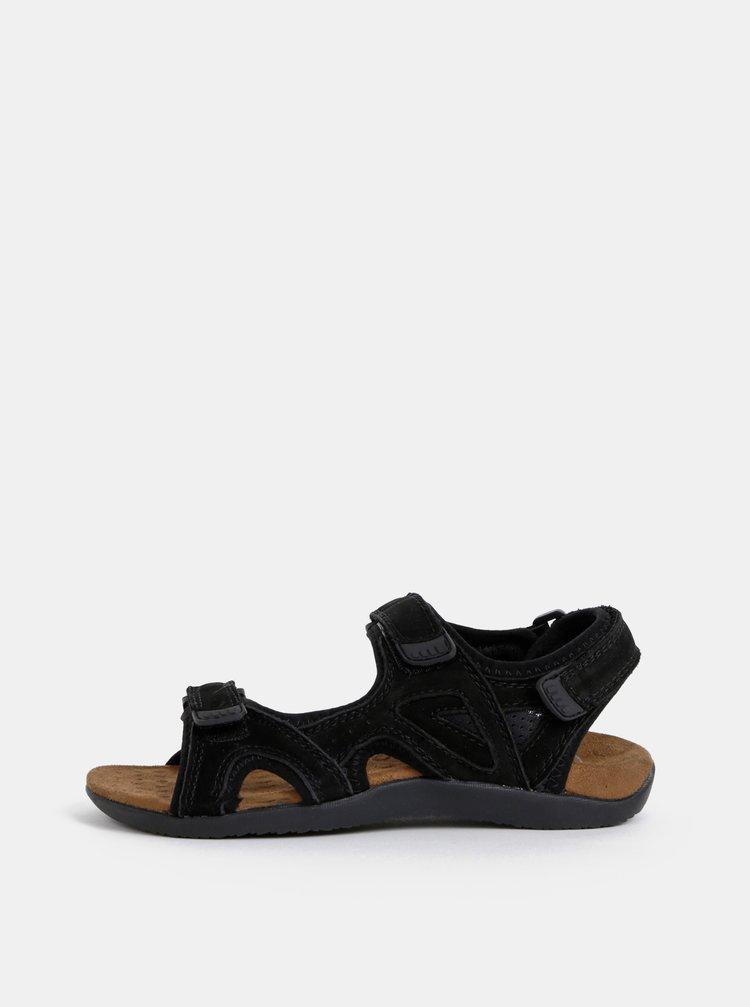 Sandale negre din piele Scholl Spinner
