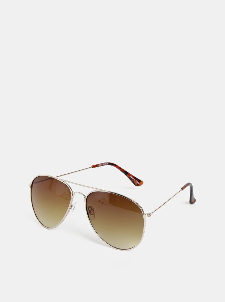 Sluneční brýle ve zlaté barvě VERO MODA Carol