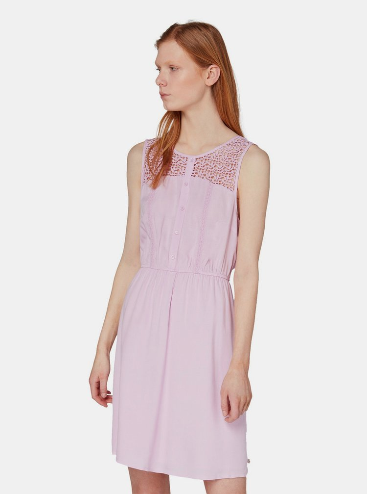 Světle fialové šaty Tom Tailor Denim