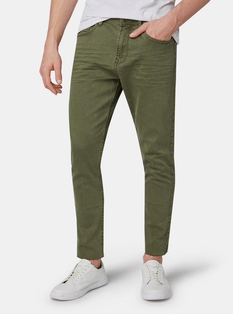 Khaki pánské zkrácené džíny Tom Tailor Denim
