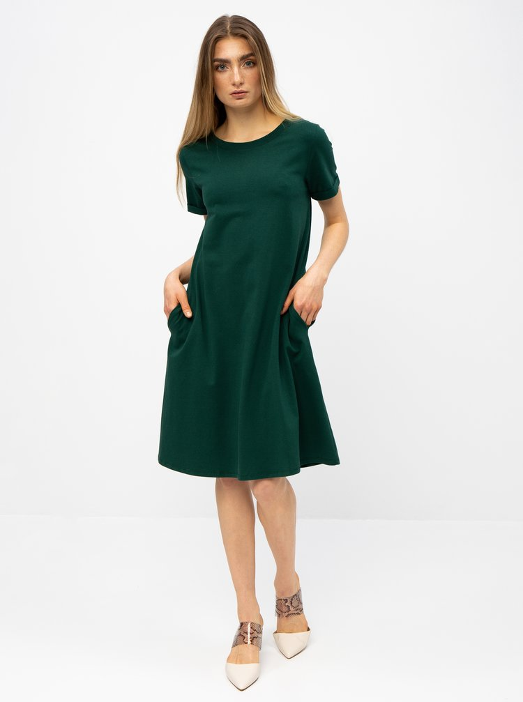 Zelené basic šaty s kapsami ZOOT