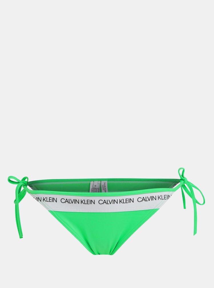 Zelený dámský spodní díl plavek Calvin Klein Underwear
