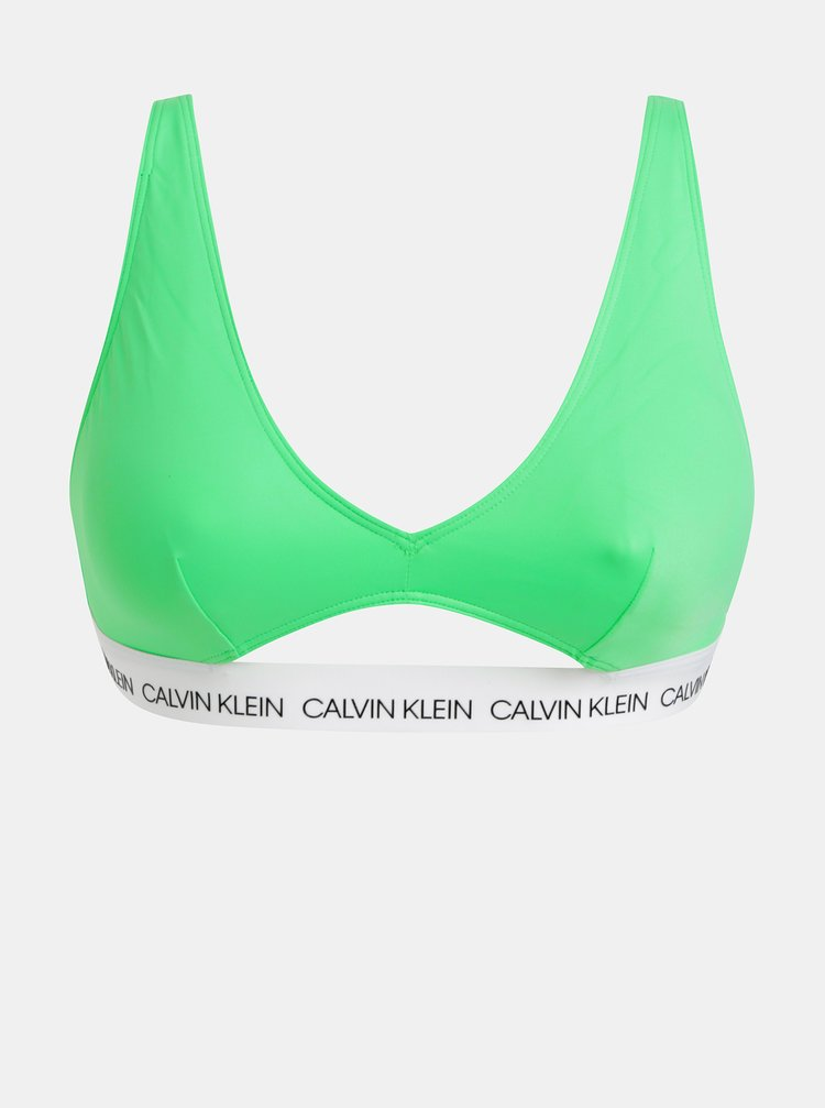 Sutien de baie verde Calvin Klein Underwear
