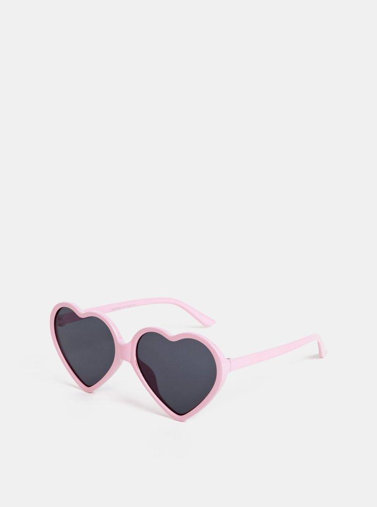 Růžové dámské sluneční brýle Haily´s Hearty
